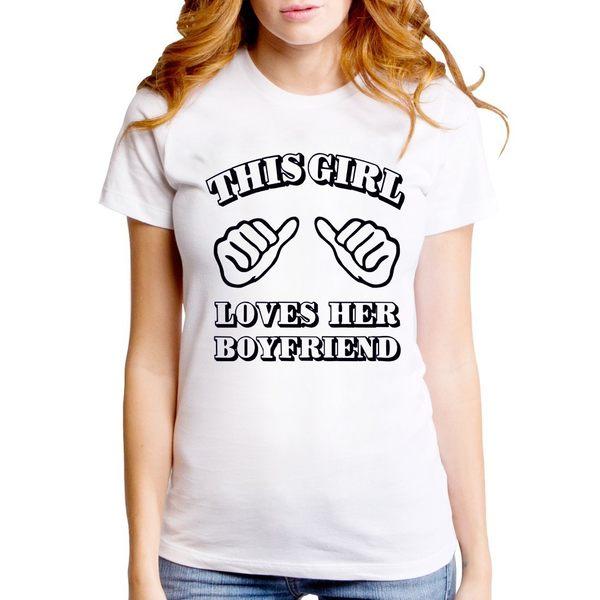 This Girl Loves Her Boyfriend 短袖T恤-2色 這個女的愛她的男朋友 情人節 七夕490