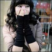 現貨+快速★保暖長手套男女街舞款半指手套露指腕套★ifairies【21984】