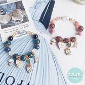 手珠 波西米亞風水晶吊飾手鍊 A2002