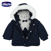 chicco-英倫城市-造型繡圖裡舖棉連帽長外套