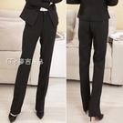 西褲女垂感黑色上班工作高腰顯瘦職業直筒正裝小個子西裝褲女秋冬款長褲 快速出貨