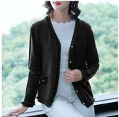 百搭上衣M-3XL/6976秋裝新款時尚寬鬆流蘇款開衫外套打底衫H326-B依品國際