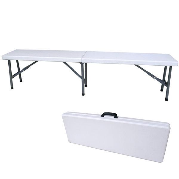 寬183公分-對疊折疊椅 休閒椅 野餐椅 戶外椅 長椅(厚度4.5公分)BSL-XZD183-1
