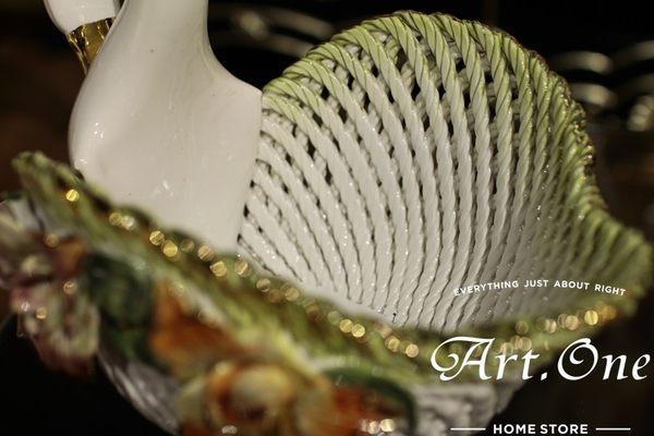 ART ONE 居家設計館 AA20392 天鵝造型蔬果盤