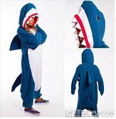 cos睡衣 秋冬卡通動物鯊魚情侶連體睡衣家居表演 cosplay 樸智旻 玩趣3C