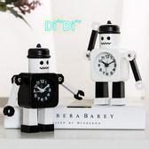 兒童專用卡通鬧鐘個性創意機器人鐘錶學生床頭鐘日系金屬鐘錶擺件