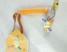 【震撼精品百貨】U-Sa-Ha-Na_花小兔 ~ 塑膠伸縮繩鎖圈『橘』