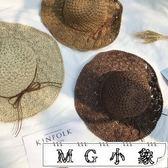 韓版折疊度假遮陽鏤空沙灘帽