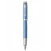 派克高尚經典鈦藍格紋鋼筆