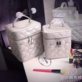 化妝箱化妝包女大容量便攜化妝盒化妝箱手提化妝品收納包【少女顏究院】
