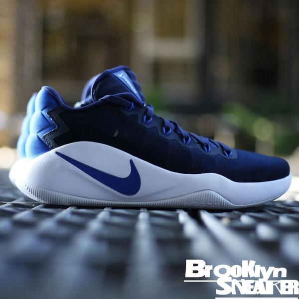 Nike Hyperdunk 藍 網布 白底 耐磨底 低筒 藍球鞋 男 (布魯克林) 2016/12月 844364-444