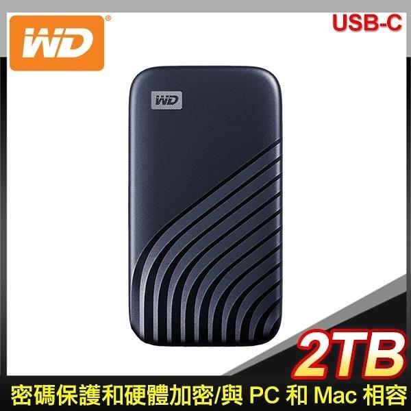 【南紡購物中心】WD 威騰 My Passport SSD 2TB USB 3.2 外接SSD《藍》(WDBAGF0020BBL)