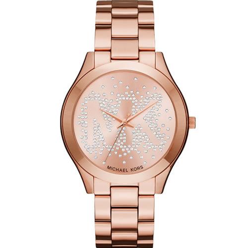 Michael Kors 璀璨魅力時尚腕錶 MK3591 玫瑰金色 42mm
