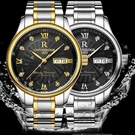 手錶 超薄防水精鋼帶石英男女手表男士腕表送皮帶學生女士男表手表【快速出貨八折下殺】