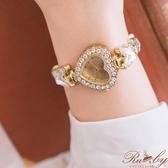 手錶 蝴蝶水鑽愛心造型手錶-Ruby s 露比午茶