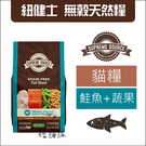 SUPER SOURCE紐健士[鮭魚+蔬果無穀貓糧,11磅]產地:美國