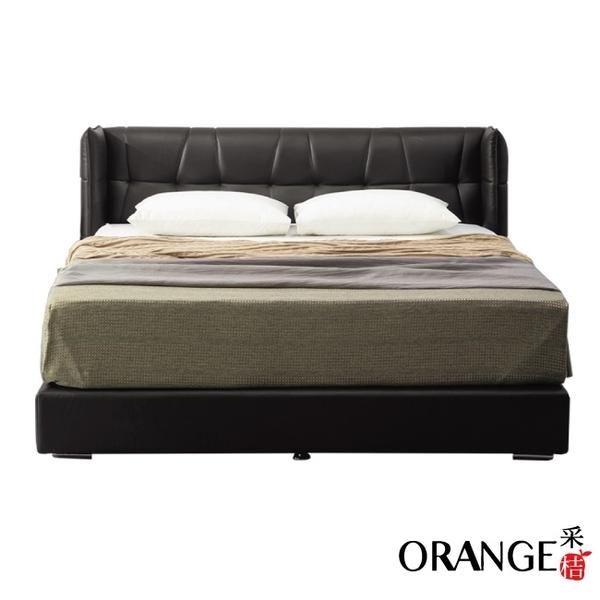 【采桔家居】吉布地 現代5尺皮革雙人床台組合(床頭+床底+不含床墊)