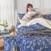床包 / 雙人加大【浮草之詩】含兩件枕套  AP-60支精梳棉  戀家小舖台灣製AAS301