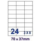 【奇奇文具】裕德Unistar US4464 70×37mm 24格 A4 三合一 電腦標籤(1盒100張)