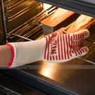 五指烤箱隔熱手套 加厚款 微波爐防燙防護手套 烘焙 矽膠條紋 1隻