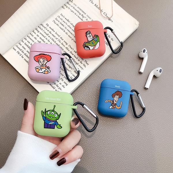 即將現貨 台灣發貨? Airpods2 藍芽耳機保護套 蘋果無線耳機保護套 玩具總動員