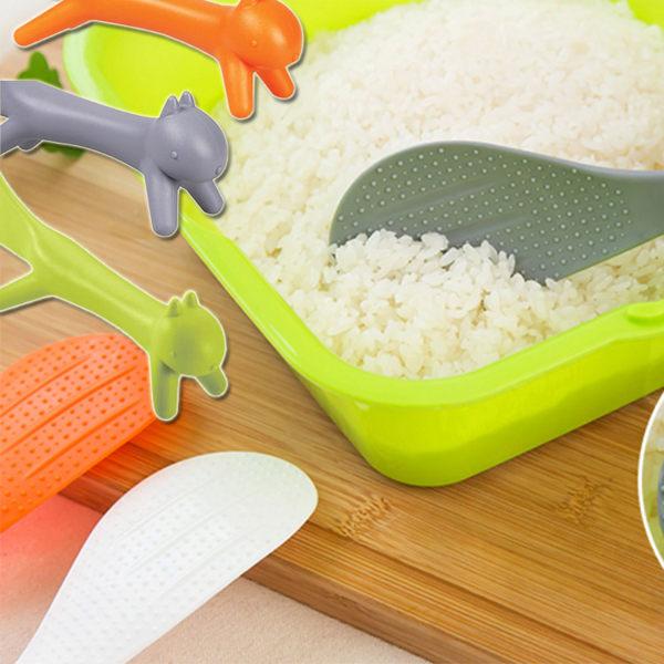 廚房用品   可愛松鼠造型可立式飯勺 造型飯勺 可立式飯勺 可愛飯匙 廚房餐具 【KFS057】-收納女王