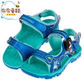 《布布童鞋》POLI救援小英雄波力藍色磁扣式兒童運動涼鞋(15~20公分) [ B8E136B ]