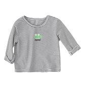 青蛙條紋長袖上衣 童裝 長袖上衣