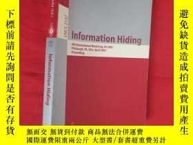 二手書博民逛書店Information罕見Hiding: 4th International Work... 【小16開 】 【詳