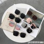 復古潮人百搭方框太陽鏡女學生韓版個性遮陽大框墨鏡潮 印象家品旗艦店