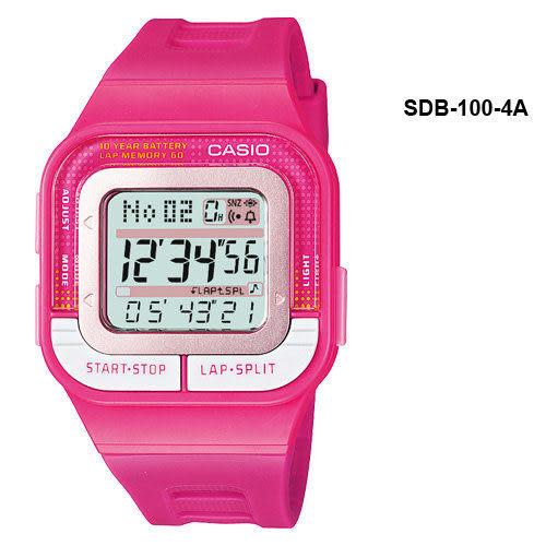 SDB-100-4A卡西歐CASIO女性專屬慢跑專用運動錶