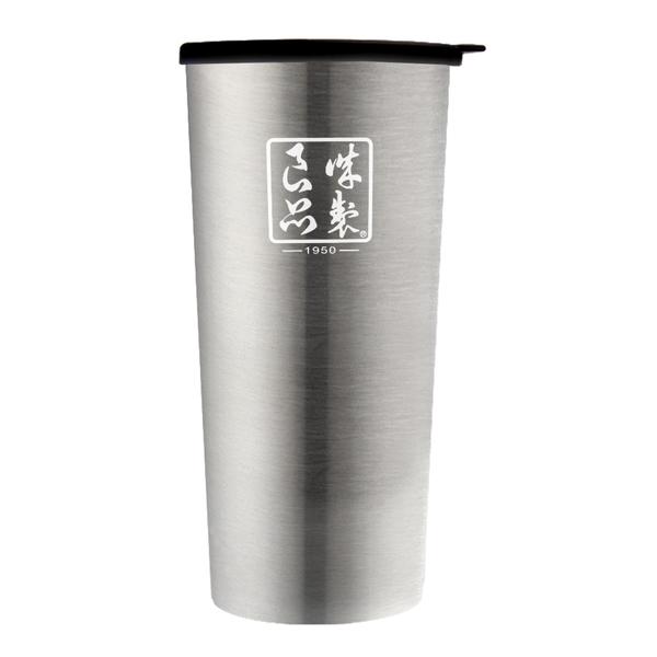 魔法瓶嚴選 304不鏽鋼琺瑯雙層杯450ml-星灰銀(MF0478N)