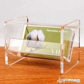 名片座 金雕台式名片座透明桌面大容量卡片架座壓克力名片盒收納盒 Cocoa