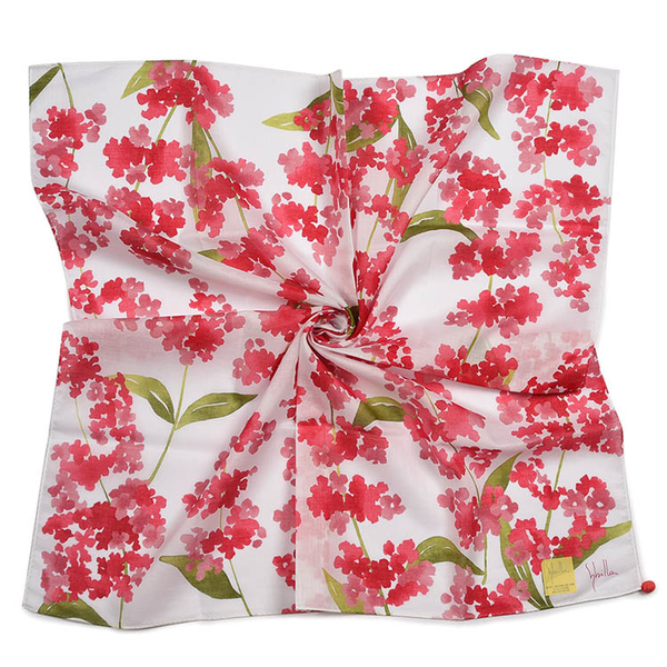 Sybilla鼠尾草印花純綿帕領巾(紅色)989164-106