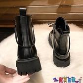 馬丁靴 厚底加絨馬丁靴女2021年新款秋冬英倫潮小個子內增高百搭短靴 寶貝計畫