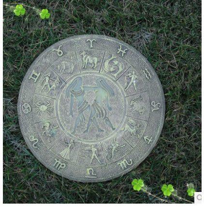 草坪踏步石庭院裝飾品戶外擺件十二星座