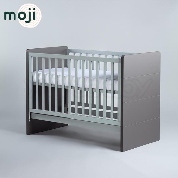 德國 Moji Dreamy 成長型原木嬰兒床(含床墊)-尊爵灰【加贈-純棉床包】