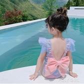 兒童泳衣女連身女童美人魚公主小中大童寶寶嬰兒游泳衣裙式泳裝 polygirl