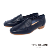 Tino Bellini義大利進口學院休閒氣息便士樂福鞋_藍 TF9010 歐洲進口款