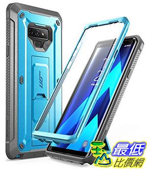 SUPCASE Unicorn Beetle Pro系列 堅固保護套內置屏幕保護貼和Kickstand Galaxy Note 9 藍 [8美國代購]