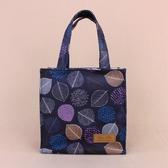 雨朵防水包 M058-002 小四方手提袋(魔鬼氈)-深藍拓印葉之美13414