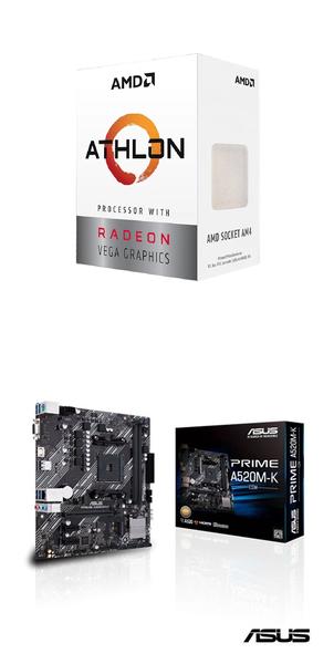(AMD 3000G組合)AMD Athlon-3000G+華碩PRIME A520M-K