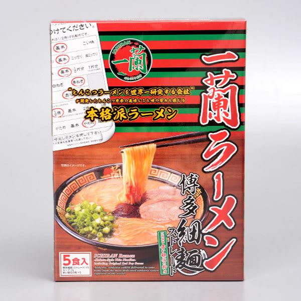一蘭拉麵 直麵(5入盒裝)