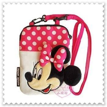 ♥小花花日本精品♥《Disney》迪士尼 Minnie 米妮 粉色點點 蝴蝶結 小斜背包 側背包 88826004