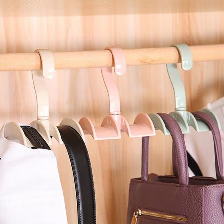 居家小物 可旋轉衣櫃包包掛架 掛鉤 包包掛架 包包掛鉤 包包掛勾 收納 掛勾 皮帶 領帶 包包