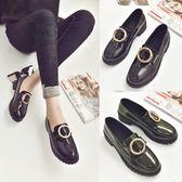 牛津鞋/皮鞋 粗跟單鞋百搭小皮鞋英倫風樂福鞋 巴黎春天