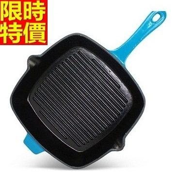鑄鐵鍋 平底鍋-烤盤平底炒菜煎無塗層生鐵盤子電磁爐通用2色66f10【時尚巴黎】
