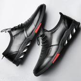 皮鞋 皮鞋男休閒秋冬季男鞋加絨保暖棉鞋真皮韓版潮流商務軟底黑色鞋子 韓菲兒