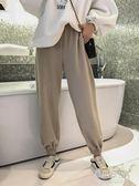 超火毛呢褲女褲子新款秋冬寬鬆束腳燈籠褲百搭高腰休閒長褲     原本良品