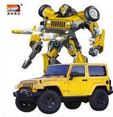 兒童遙控汽車玩具一鍵變形機器人DL5868『伊人雅舍』